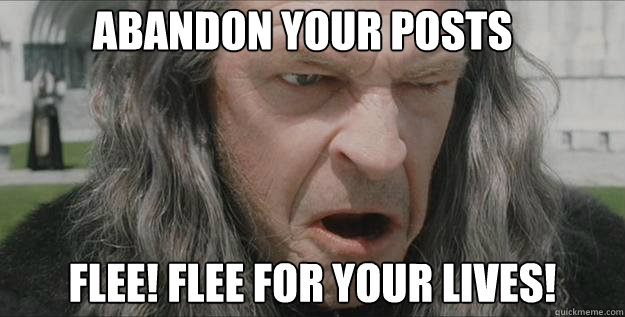 Image result for denethor flee